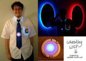 Wheatley cosplay: WIP by Emmalyn