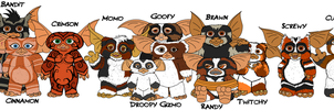 Gremlins - Gizmo and his Mogwai group by TheCiemgeCorner