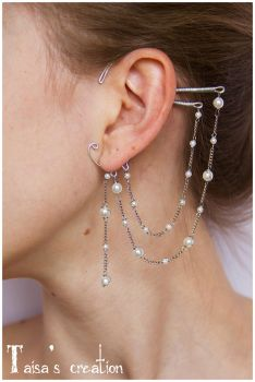 Beaded Ear Cuff by Taisa-Winged
