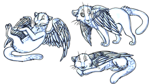 Winged Cats by HaikuBaikuu