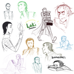 Loki Sketch Dump by blargberries