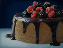 Berries  Cake by Mary Ellen Johnson by elliez1