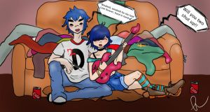 2D and Noodle by thewanderersjournal