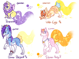 Starlight Paws Pups auctions CLOSED by Sarahostervig