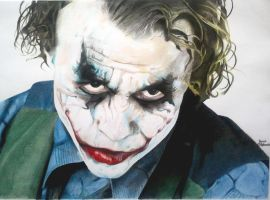 The Joker : Heath Ledger The Dark Knight by JakubQaazAdamski