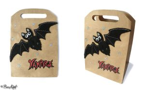 Halloween Vampire Bat gift bag by BaziKotek