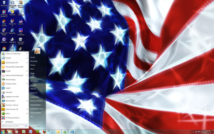 Window 7 Theme - USA Flag Day by Windowsthememanager