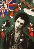 Sid Vicious (Sex Pistols) by lunachick86