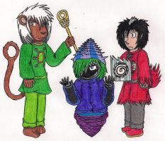 Three Galuniverse Wizards by Cyberboy7000