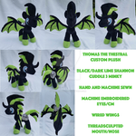 .:Commission:. Thomas the Thestral Custom Plush by MousehMakes