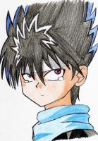Hiei Crying by TheBulletAlchemist