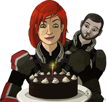 Happy Belated Birthday, Shep by GoldFlareon