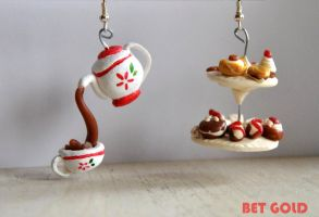 tea party earrings by BETGOLD