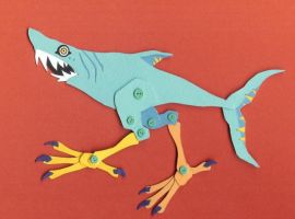 shark with legs by whatwith
