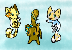 adoptable kitties by pinkvaporeonshiny