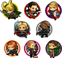 Avengers Buttons by Rixari