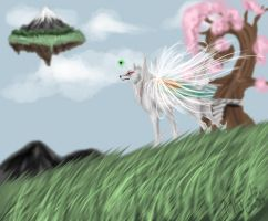 Earth bound-Okami contest by Miraged-wings