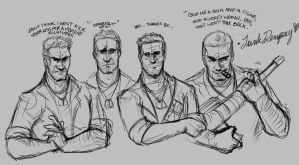 Tank Dempsey Sketches by CarnivorousTwinkie