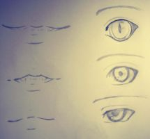Praticing Eyes and Mouth' by FreyhaMemento