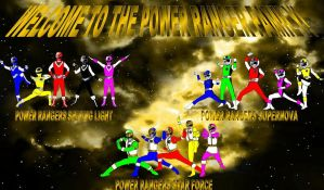 Welcome To The Power Ranger Family by rangeranime