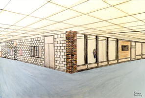 School Hallway 2 Point Perspective by ForeverSoaring