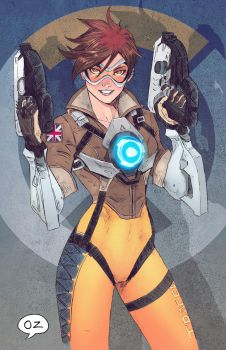 TRACER (overwatch) by OZartwork