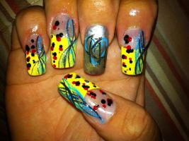 Kingdom Hearts Themed nail art by pierrettepaola
