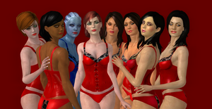 Mass Effect Ladies Corsets (XNALara) by Cherry-Wayne