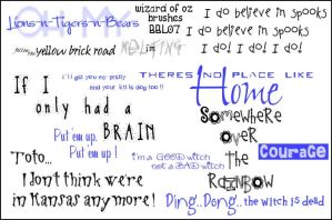Wizard Of Oz Quotes _ Brushes by Bound-By-Leather
