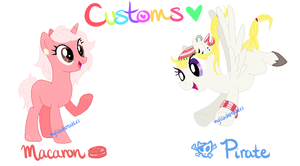 My Little Customs - Macaron 'n Pirate Pony Custom! by MyLilAdoptables