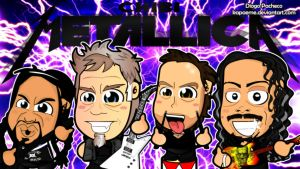 Metallica - Chibi Wallpaper by kapaeme