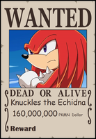SPBWX Wanted Poster Knuckles by Aquamimi123