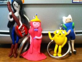 Adventure time custom keychains by BurgandyRoses