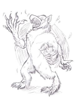 Gryphon to Werewolf by hamstertoybox