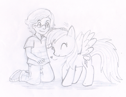 Commish: Pettin' Ponies by Nintendrawer