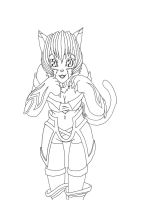 Tabby Line Art by Eternal-Dahaka