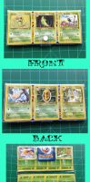 Pokemon card vinyl wallets: Butterfree and friends by Sugar-Bot