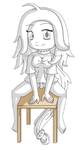 [Commission] Chibi Colorless Blanque by izka197