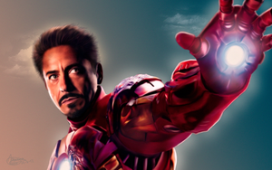 Iron Man - Robert Downey Jr. by MarinaSchiffer