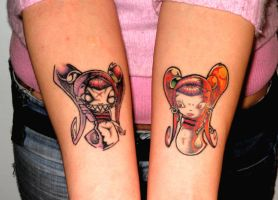 lil girls by undermyskinbodyart