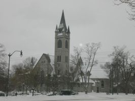 Church in a blizzard by Iceman31