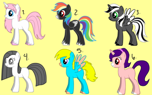 pony adoptables.:open:. by MixMatchDash