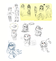 First Sketch Dump!! by creamuu