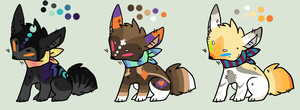 Quick Adoptables by TheFoxFeatherz