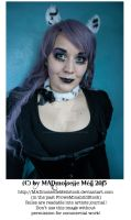 Gothic Kitty Girl Stock 001 by MADmoiselleMeliStock