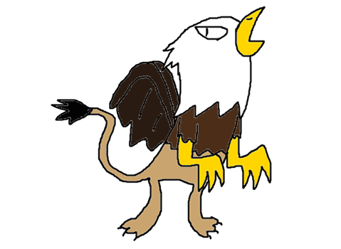 Mythical Creature drawing: Griffin by Jason5432