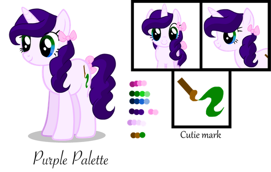 Purple Palette Ref Sheet (Now a Unicorn again) by ThePegasisterPony
