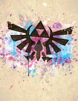 Splash Triforce Emblem by B-Rye1001