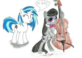 Octavia and Vinyl Scratch by UlyssesGrant