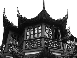 Asian Roof 01 by Petite-Dionee